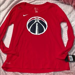Washington Wizards nike dri fit tee size Lg